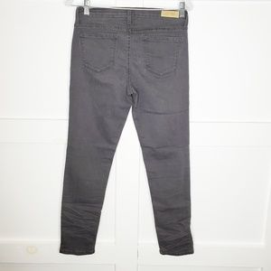 Angry Rabbit Gray Charcoal Skinny Jeans Mid Rise